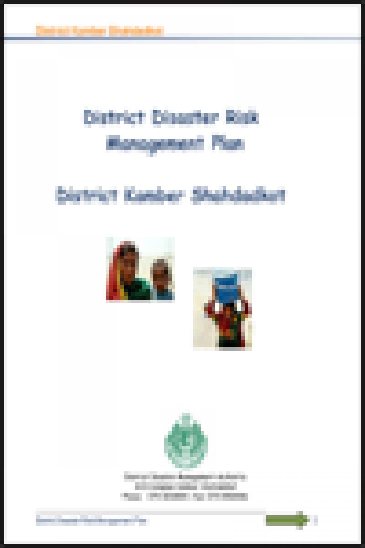 Kambar & Shahdadkot DRM Plan