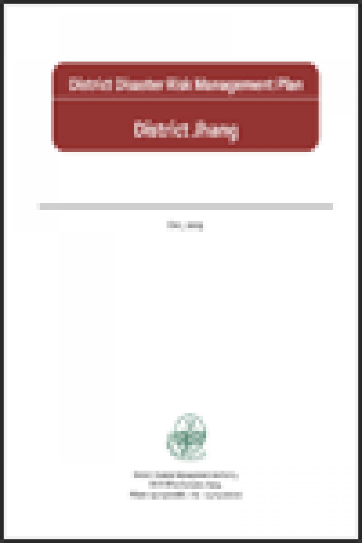 Jhang DRM Plan 2009