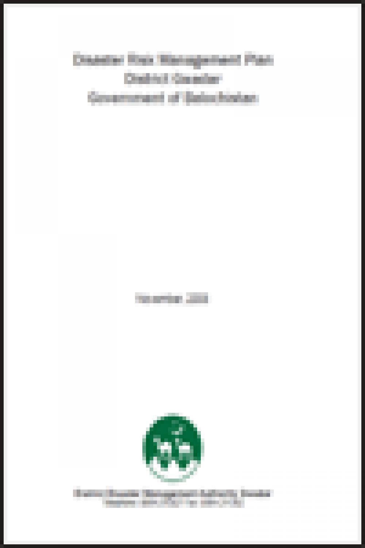 Gawadar DRM Plan 2008