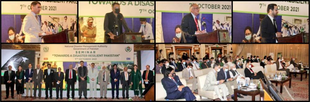 """NDMA organized a one-day National Seminar """"Towards a Disaster Resilient Pakistan"""" in the context of 8th Oct being celebrated as 'National Resilience Day'"""