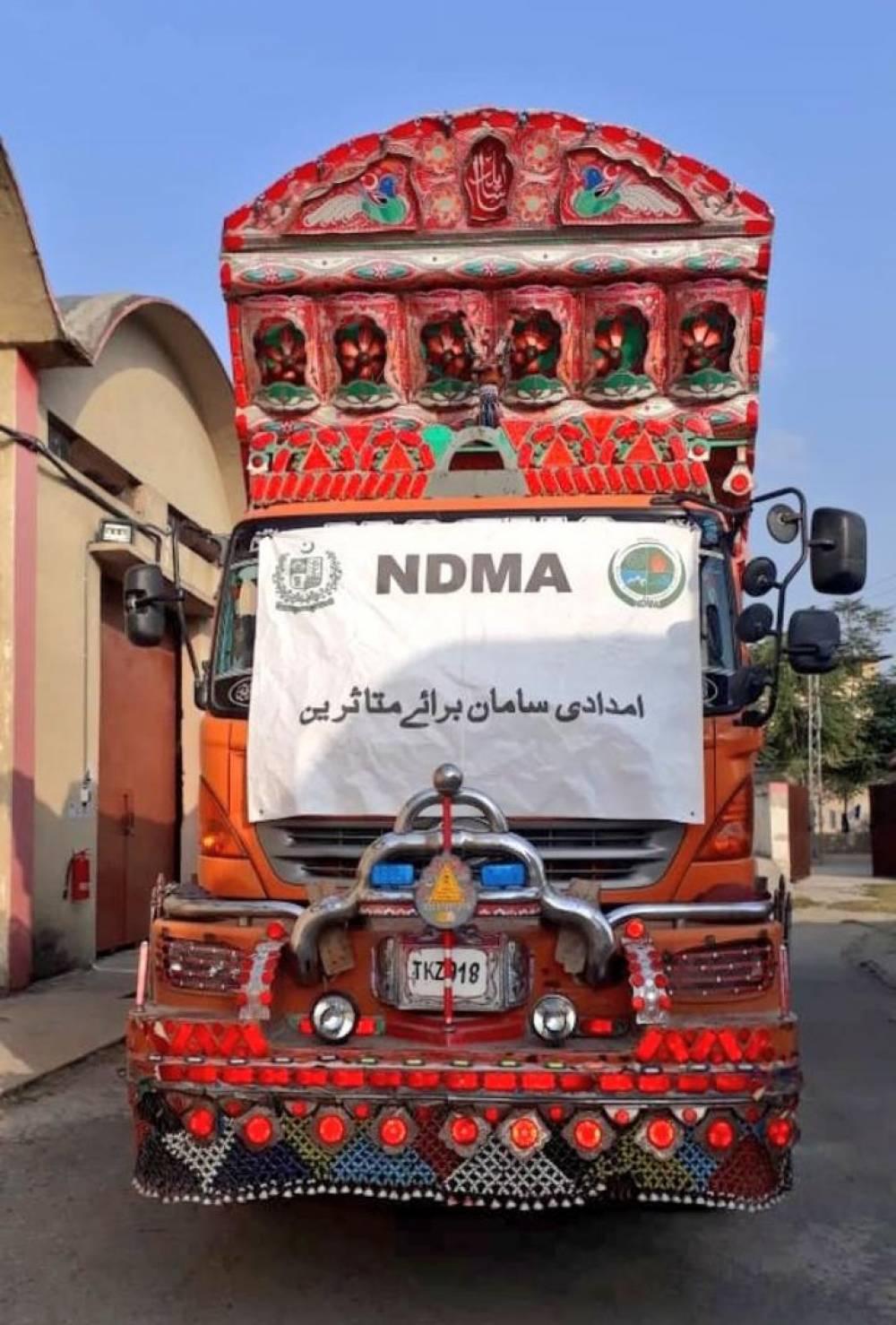 این ڈی ایم اے کی جانب سے ہرناٸ، بلوچستان کے زلزلہ متاثرین کے لیے امدادی سامان کی ایک اور کھیپ روانہ