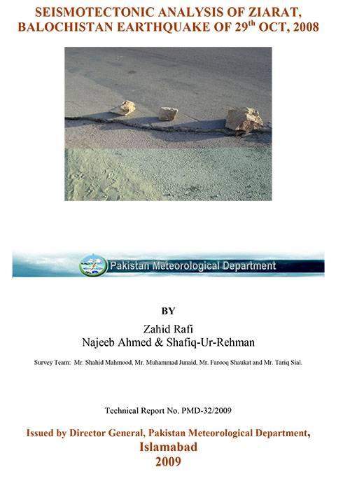 Seismotectonics Analysis of Ziarat Balochistan Earthquake of 29th Oct 2008