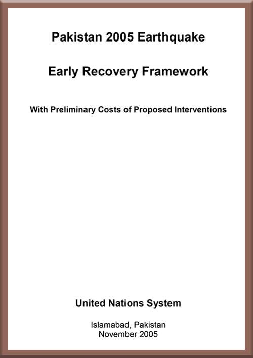 Early Recovery Plan Earthquake 2005