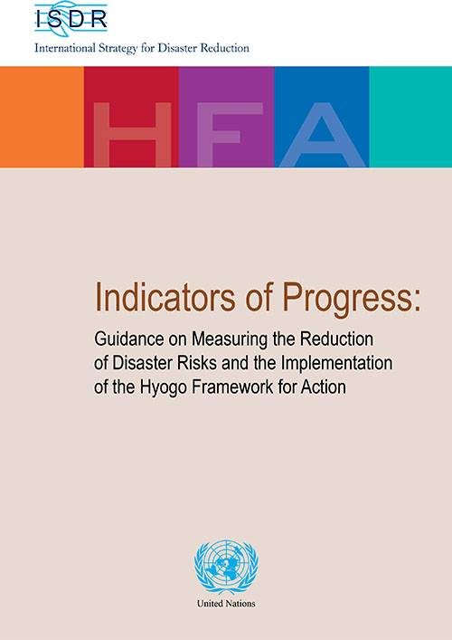 HFA Indicators of progress, Guidelines on measuring the reduction of DRR and implementation of HFA