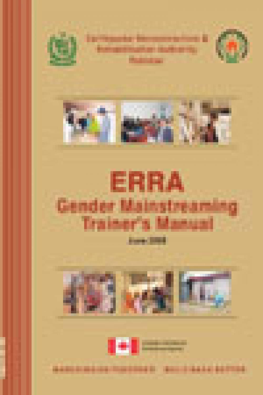 Gender Mainstreaming Trainer's Manual ERRA