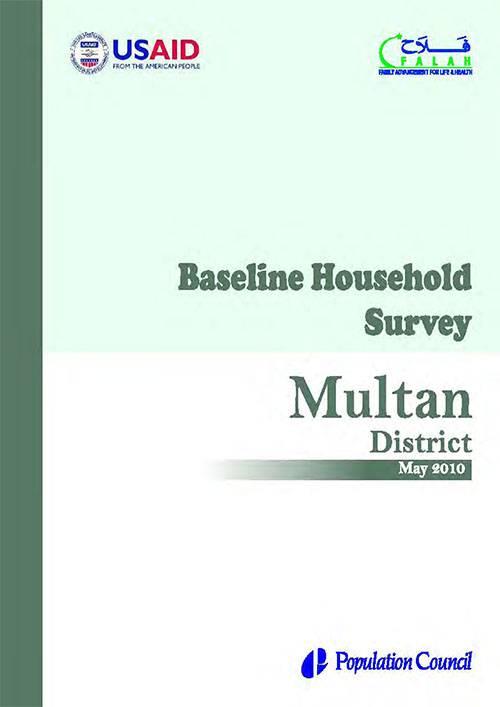Baseline Household Survey Multan 2010