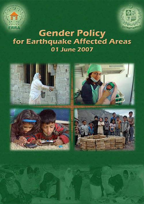 Gender Policy for Earthquake Affected Areas