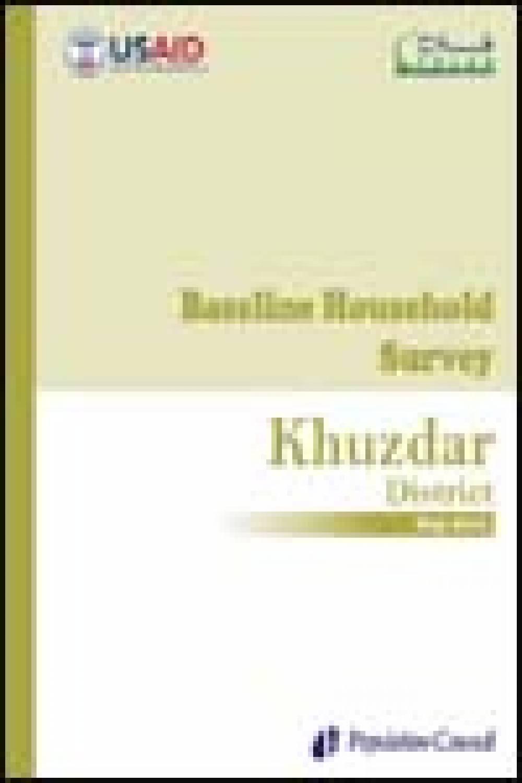 Baseline Household Survey Khuzdar 2010
