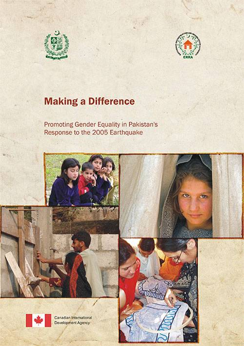 Making a Difference Promoting Gender Equality in Pakistan's Response to the 2005 Earthquake