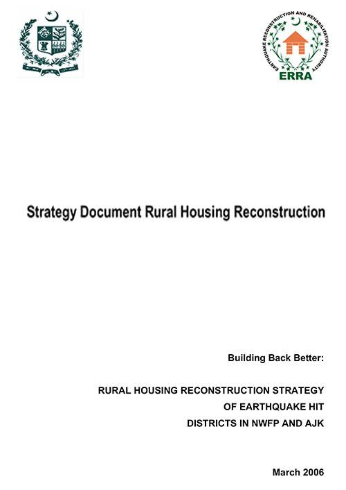Strategy Document Rural Housing Reconstruction