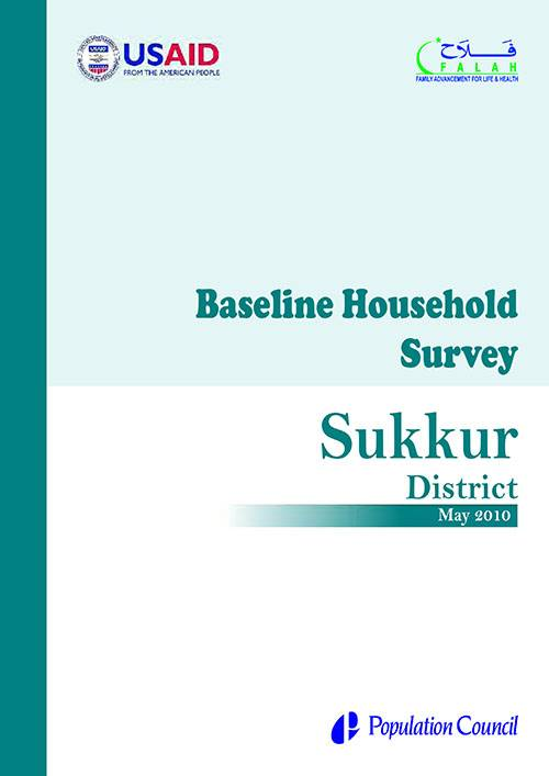 Baseline Household Survey Sukkur 2010