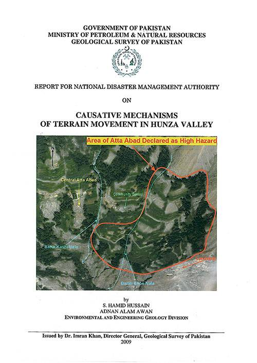 Geological Survey of Pakistan in Pre-Disaster Period of Hunza Attabad Landslide