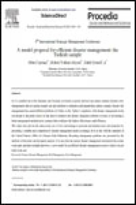 Model Proposal for Efficient Disaster Turkish
