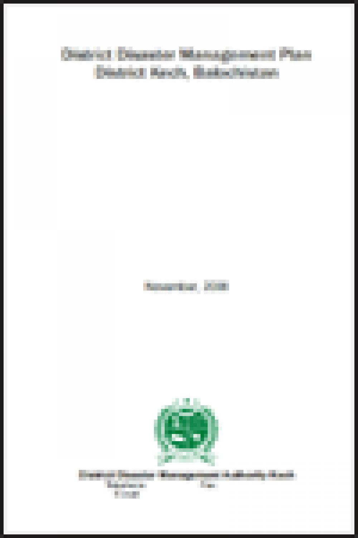 Kech DRM Plan 2008