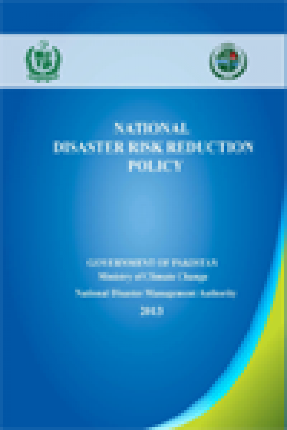National Disaster Risk Reduction Policy 2013