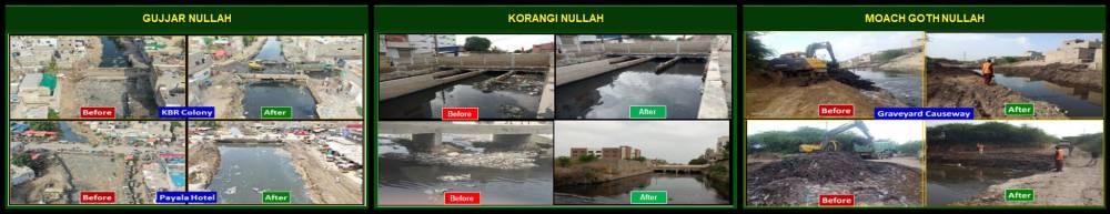 کراچی برساتی نالہ صفائی مہم