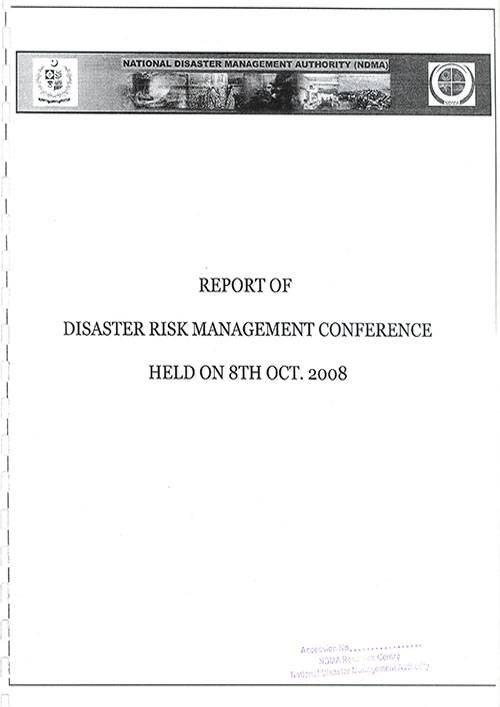 Report of Disaster Risk management Conference