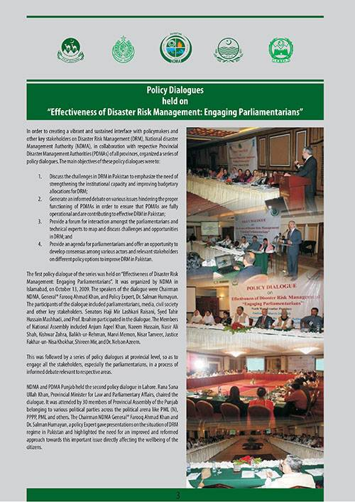 Policy Dialogues held on Effectiveness of Disaster Risk Management