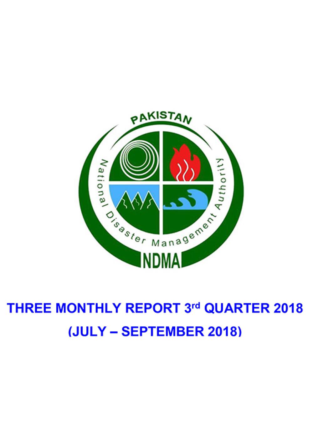 FInal NDMA's 3rd Quarter Report (July - Sept 2018)